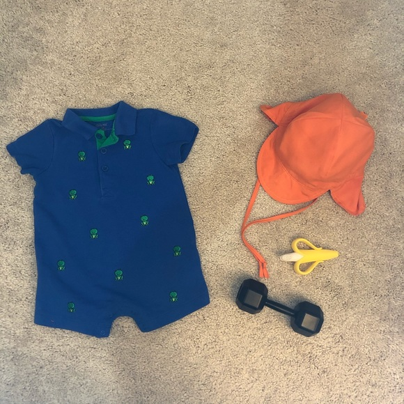Little Me, Just Kids Other - Bundle of Baby Articles, 4 Pieces, Size 9M